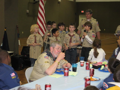Mike Willey at Cub Scouts Blue and Gold Celebration