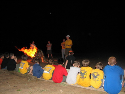 Mike Willey at Cub Scouts Campfire